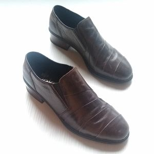RIEKER antistress brown leather loafers